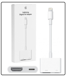Genuine Apple Lightning to HDMI Digital TV AV Adapter Cable For iPad iPhone