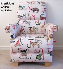 Prestigious Animals Alphabet Fabric Adult Chair Nursery Armchair Beige Safari