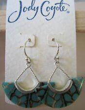 Jody Coyote Earrings JC0937 new Horizon HZ-0811-03 silver turquoise dangle shell