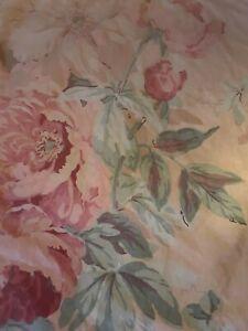 """Vtg Ralph Lauren ELSA GRASSLANDS Floral 23"""" Square Ruffle 16"""" THROW PILLOW SHAM"""