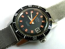 OROLOGIO WATCH KORES SUB DIVER VINTAGE SWISS AUTOM. STAINLESS STEEL MESH STRAP