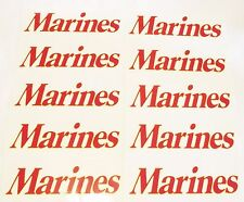 "10 EACH USMC United States Marine Corps 9"" x 2"" bumper STICKER Lot PACK 10 EACH"