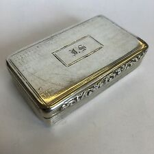 Antique William IV Solid Silver Snuff Box Edward Smith 1836 Heavily Worn