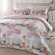 #bedding Pretty Pastels Multi Novelty King Size Bed Duvet Cover & Pillowcase Set