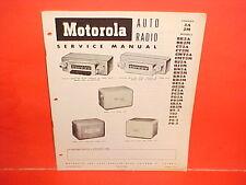1942-1952 BUICK CHEVROLET GMC TRUCK PONTIAC MOTOROLA AM RADIO SERVICE MANUAL