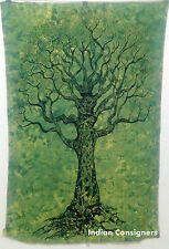 Wall Hanging Hippie Bedding Bedspread Green Dry Tree Twin Tapestry Beautiful Art