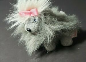 Vintage HONEY 1996 Mattel Barbie Pet Dog - Blue Eyes - Gray & White Fur Ball