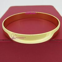 Real Womens Solid 18k Yellow Gold GF Round Plain Bangle Bracelet Band 67mm 10mm