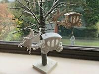 Unicorn and Carriage Christmas Decorations - Xmas Tree Unicorn Baubles