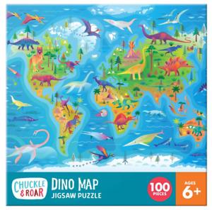 Chuckle & Roar Roar-Dino Map Puzzle 100pc
