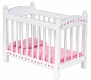 NEW WOODEN BABY DOLLS DOLL BED TOY COT PLAY SET BUBBADOO