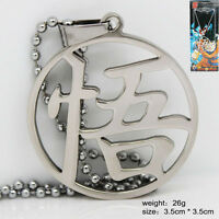 "Anime Dragon Ball Z ""悟"" Logo Metal Pendant Necklace Cosplay Jewelry Gift Fashion"
