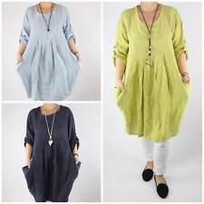 Lange Damenkleider aus Leinen günstig kaufen   eBay fb0528a035