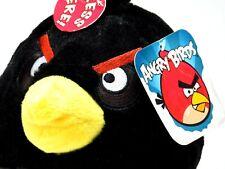 "Angry Birds Plush Black Bomb 7"" Soft Toy Bird Doll Stuffed Animal Sound"