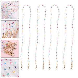 4Pcs Practical Colorful Anti-loss Mask Cord Mask Chain Mask Hanging Rope