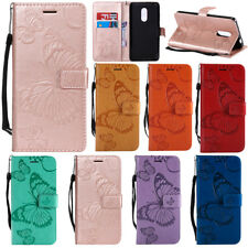 Embossed Patterned Butterfly Flip PU Leather Card Pocket Strap Case Lot Cover K2