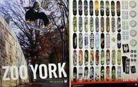 ZOO YORK skateboard 2004 Kevin Taylor 2 sided poster Flawless New Old Stock