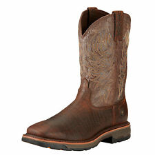 """Ariat 10017415 Workhog 11"""" Pull On EH Rated Wide Square Toe Western Work Boots"""