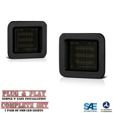 2Pcs For Ford F-150 15-19 High Power SMD LED Smoked License Plate Light Tag Lamp