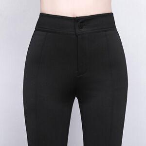 Women Bell Bottom Pants Flared Trousers Tassels Slim Business Casual Work Dance