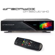 Dreambox DM920 UHD DUAL TWIN TUNER PVR Sat Receiver 4K DVB-S2 Linux E2 Enigma