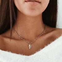 2019 Bohemia Fashion Choker Necklace Rose Flower Chain Gold Women Summer Jewelry