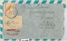 Uruguay-STORIA POSTALE-Registered Airmail Coperchio per l'Italia - 1955-Nizza!