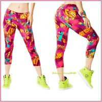 ZUMBA So Samba Perfect Capri Leggings Love Mell-Oh-Yellow XS S M L ~SOLD OUT!