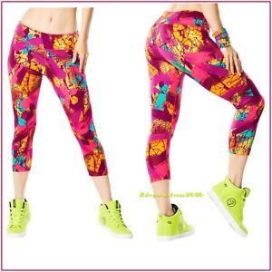 ZUMBA So Samba Perfect Capri Leggings - Mell-Oh-Yellow X-Small ~ Small - Large