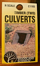 Woodland Scenics C1165 N Scale Timber Culverts  (Pack of 2)