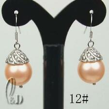 Lab-Created/Cultured Fine Pearl Earrings