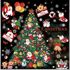 Kissdream 270 Piece Christmas Window Snowflake Decals Stikcers Decorations