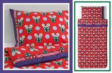 "IKEA Twin GLÖDANDE Duvet Cover Pillowcase Glodande""Wondermooi""Red Animal Purple"
