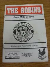 16/11/1994 Bideford v Mangotsfield United [Western League Cup] (marked). Item in