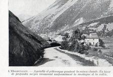 L HOSPITALET VUE GENERALE IMAGE 1924 OLD PRINT
