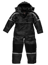 Dickies Waterproof Lined Quilted Padded Coverall WP15000 Tunnel Suit Black S-3XL