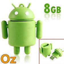Android Robot USB Stick, 8GB Green Robot Quality USB Flash Drives Weirdland