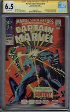CGC SS 6.5 MARVEL SUPER-HEROES #13 1ST CAROL DANVERS CAPTAIN MARVEL SIGND THOMAS