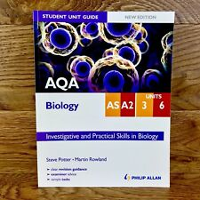 As A2 Units 3 6 Investigative & Practical Skills Biology AQA Text Book Student