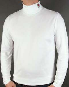 Fila Vintage Roll Neck in White - turtle neck long sleeve t shirt, 80s casual