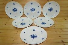 "Rosenthal Rhapsody Blue (6) Large Coupe Soup Bowls, 8 5/8"""