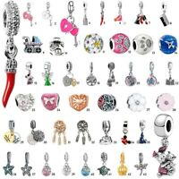 European Silver Charms Beads Pendant Fit DIY 925 sterling Bracelet Chain