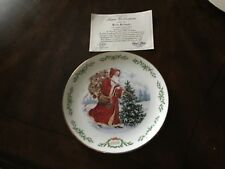 Lenox international Santa Claus Plate Collection, 1992, Kris Kringle, with Coa