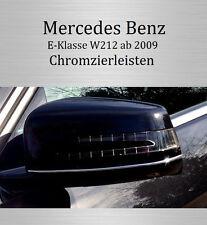 MERCEDES E-KLASSE W212 - 3M CHROM-LEISTE ZIERLEISTE CHROMLEISTE SPIEGEL VORNE