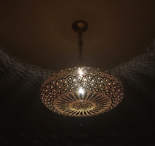 Lights Brass Moroccan Suspension Hanging Vintage Ceiling Chandelier Fixture