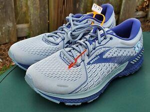 Brooks Mens Adrenaline GTS 21 1103491D006 Gray Blue Running Shoes Sz 8 D