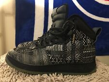 Nike Air Force 1 Duckboot BHM QS, Black / White / Gold Oreo, 739390-001, Size 10