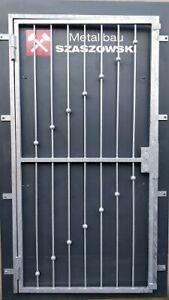 Gittertür Feuerverzinkt Einbruchschutz auf Maß - Modell Kugel