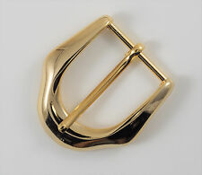 """Prong pin 1 1/4"""" belt buckle (028A) excellent polished gold color finish."""
