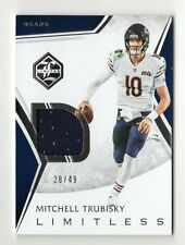 MITCHELL TRUBISKY NFL 2019 LIMITED LIMITLESS MATERIALS SILVER SPOTLIGHT (BEARS)